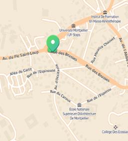 plan accès LJP Immobilier Montpellier