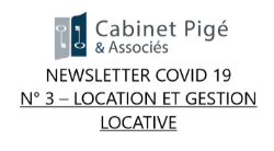 Newsletter COVID-19 n°3 - Location et Gestion locative