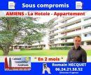 Amiens, La Hotoie : appartement 76m² + 3 chambres + terrasse