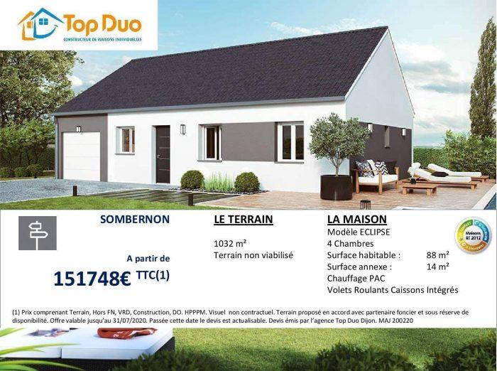 VenteTerrainSOMBERNON21540Côte d'OrFRANCE