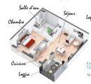 2 pièces  Appartement Saint-Étienne  48 m²