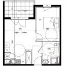 Appartement  Agde  39 m² 2 pièces