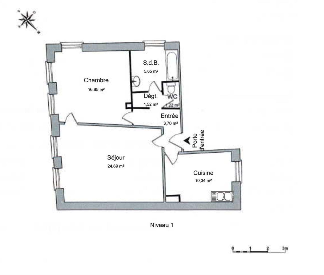 Grand T2 Hyper centre rénové - Devenez locataire en toute sérénité - Bintz Immobilier - 4