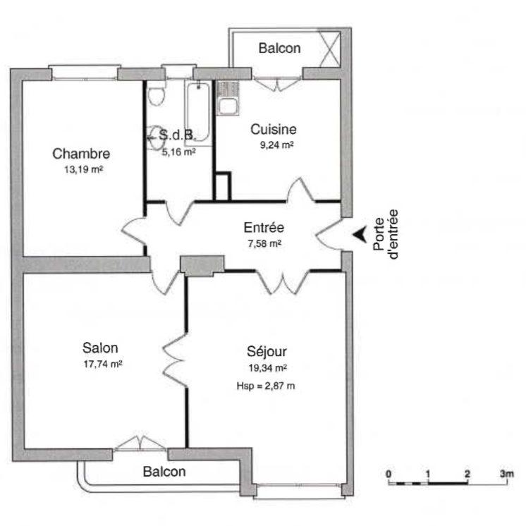 GRAND 3 PIECES BLVD DE LYON - Devenez locataire en toute sérénité - Bintz Immobilier - 8