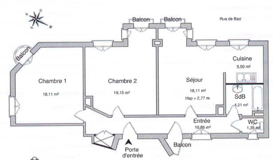 BEAU 3 PIÈCES PROCHE PETITE FRANCE - Devenez locataire en toute sérénité - Bintz Immobilier - 9