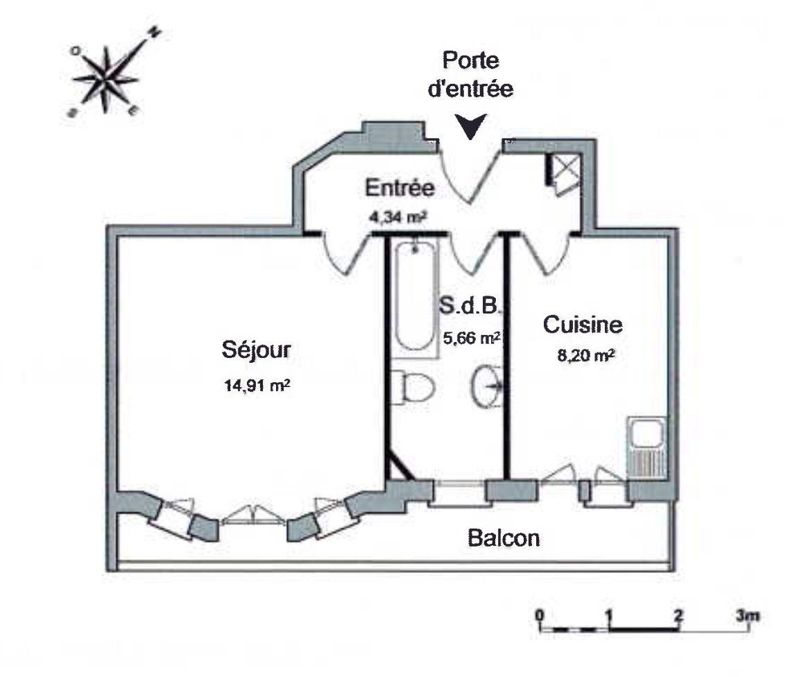 T1 KRUTENAU AVEC BALCON - Devenez locataire en toute sérénité - Bintz Immobilier - 8