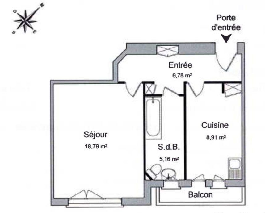 BEAU T1 KRUTENAU AVEC BALCON - Devenez locataire en toute sérénité - Bintz Immobilier - 5