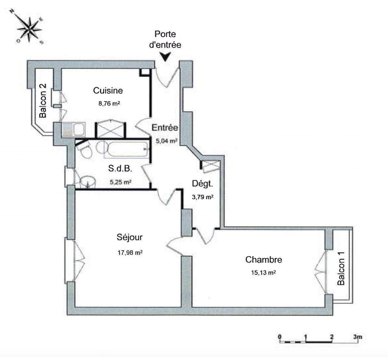 2 PIECES AVEC BALCON KRUTENAU - Devenez locataire en toute sérénité - Bintz Immobilier - 4
