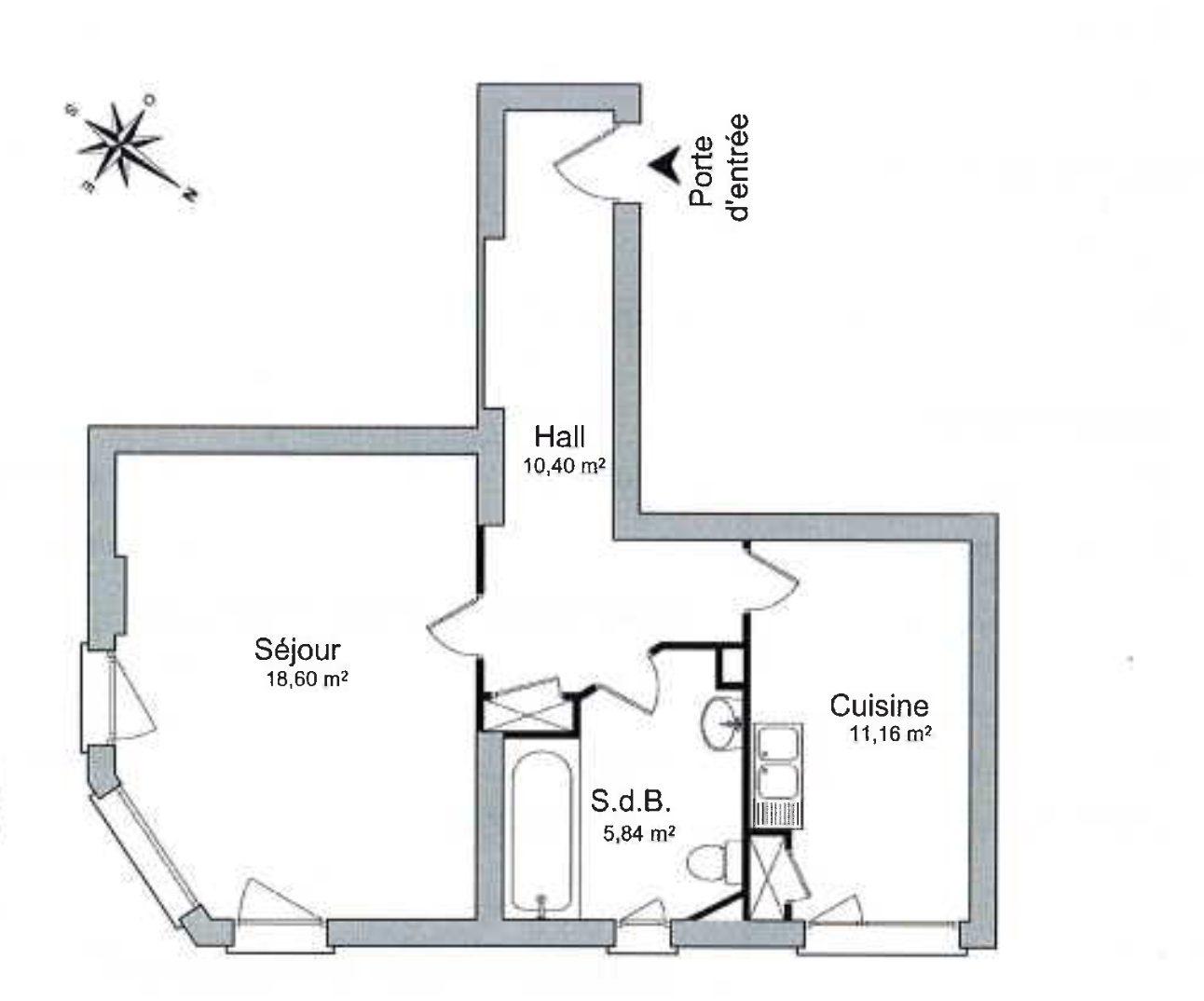 GRAND 1PIÈCE RÉNOVÉ KRUTENAU - Devenez locataire en toute sérénité - Bintz Immobilier - 6