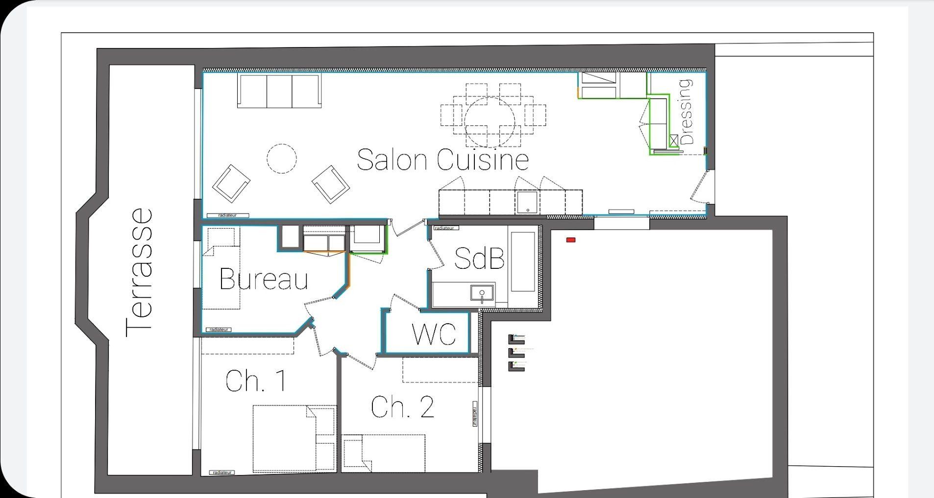 4 PIECES MEUBLE AVEC TERRASSE HYPER-CENTRE - Devenez locataire en toute sérénité - Bintz Immobilier - 2