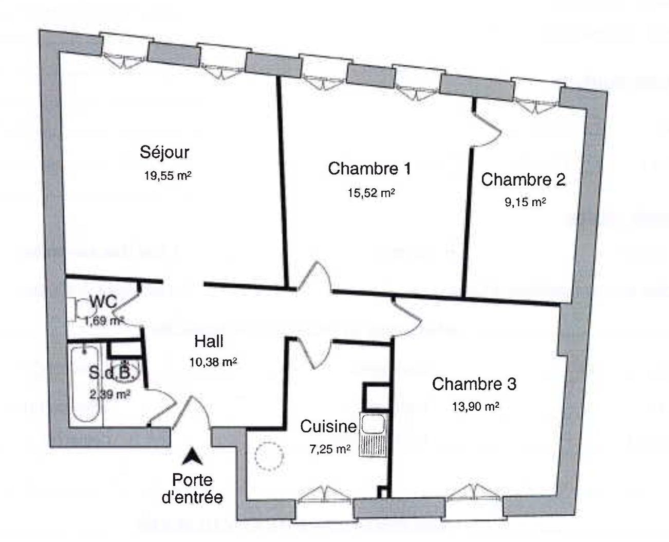 Grand 3 pièces HYPERCENTRE - Devenez locataire en toute sérénité - Bintz Immobilier - 3