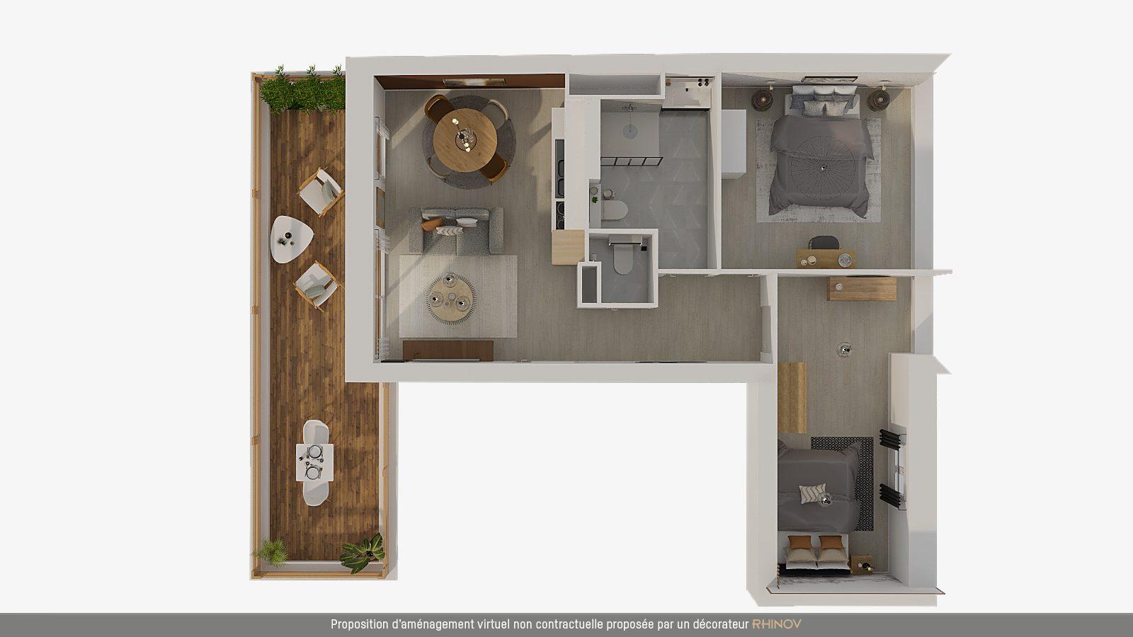 T3 NEUF AVEC TERRASSE EN ATTIQUE - Devenez propriétaire en toute confiance - Bintz Immobilier - 7