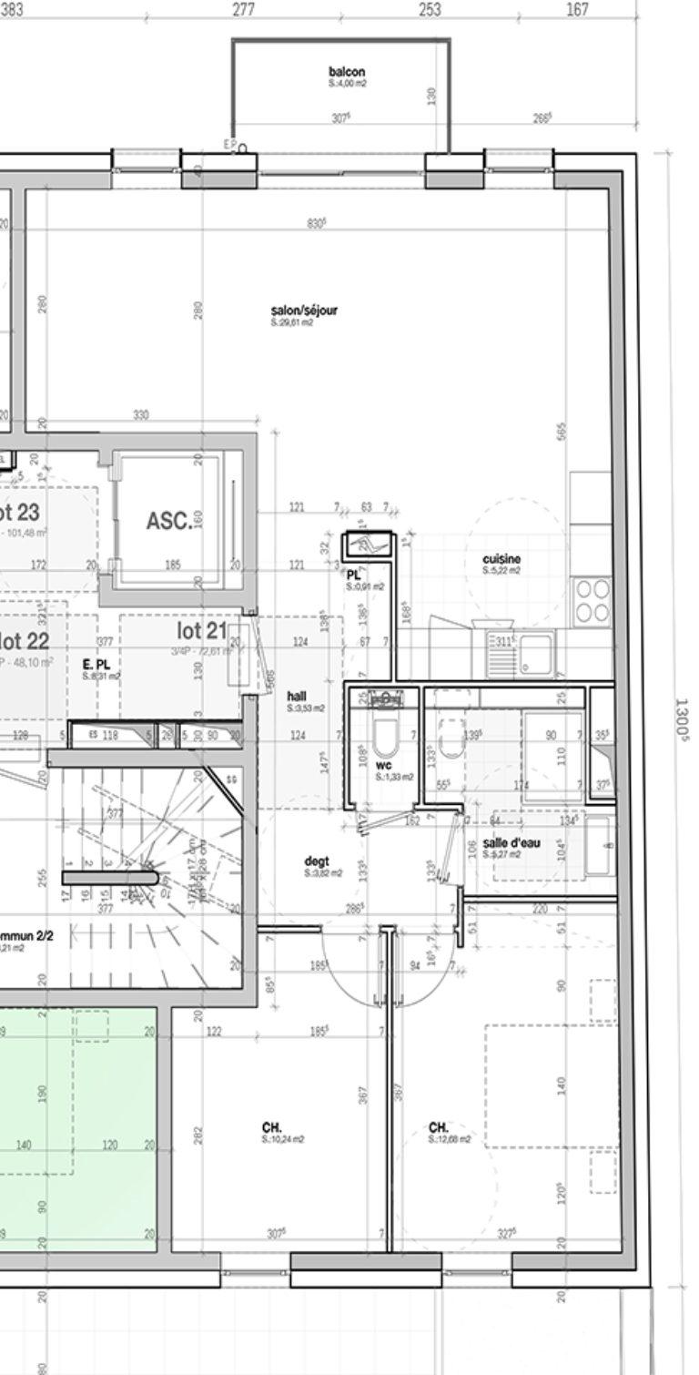 T3/4 AVEC BALCON DANS IMMEULE NEUF - Devenez propriétaire en toute confiance - Bintz Immobilier - 5