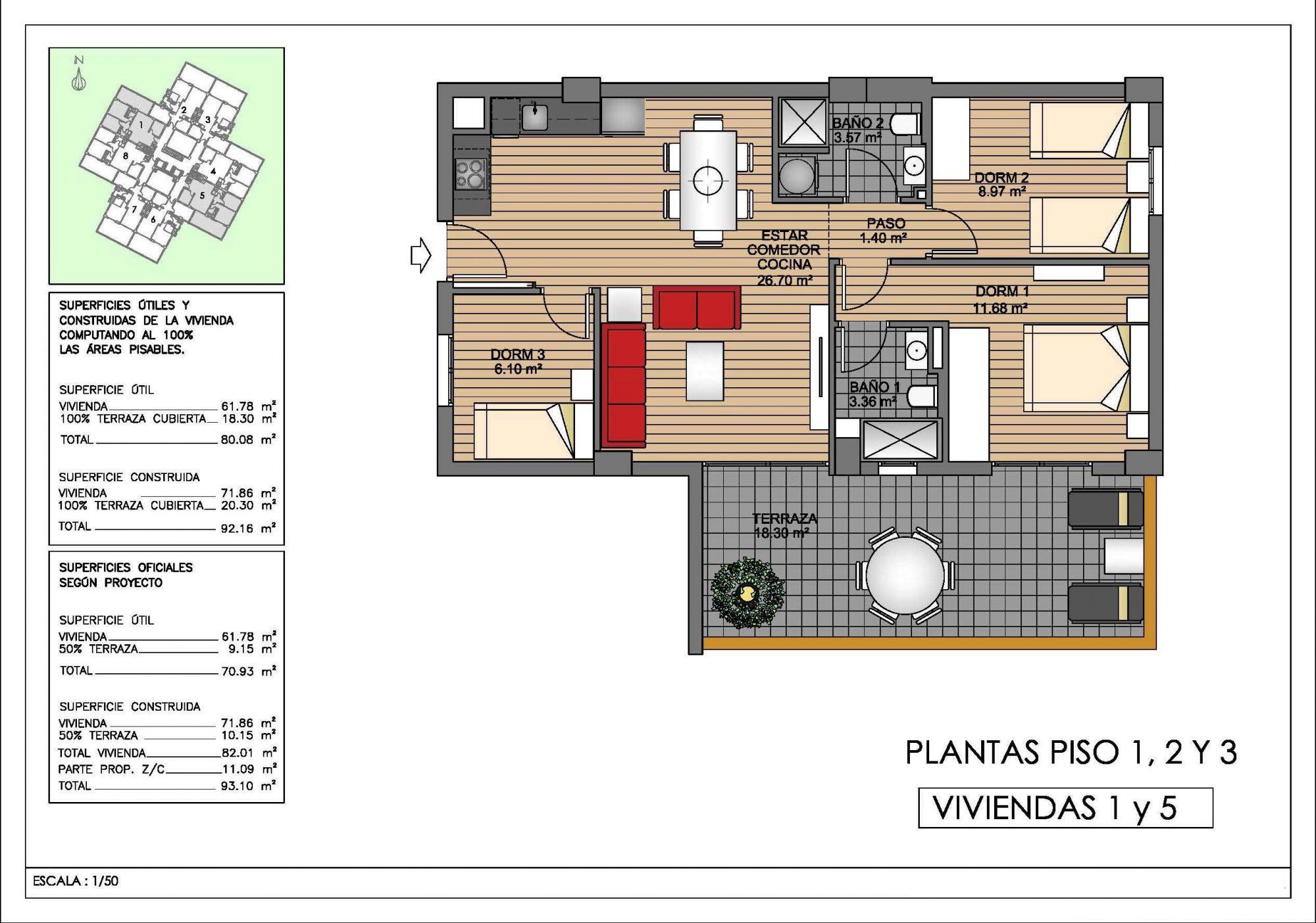 3 pièces Appartement 72 m²