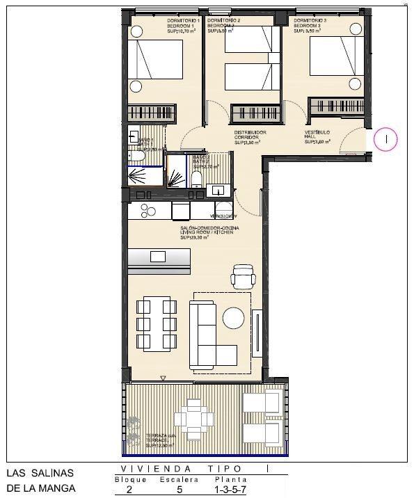 Appartement  4 pièces  72 m²