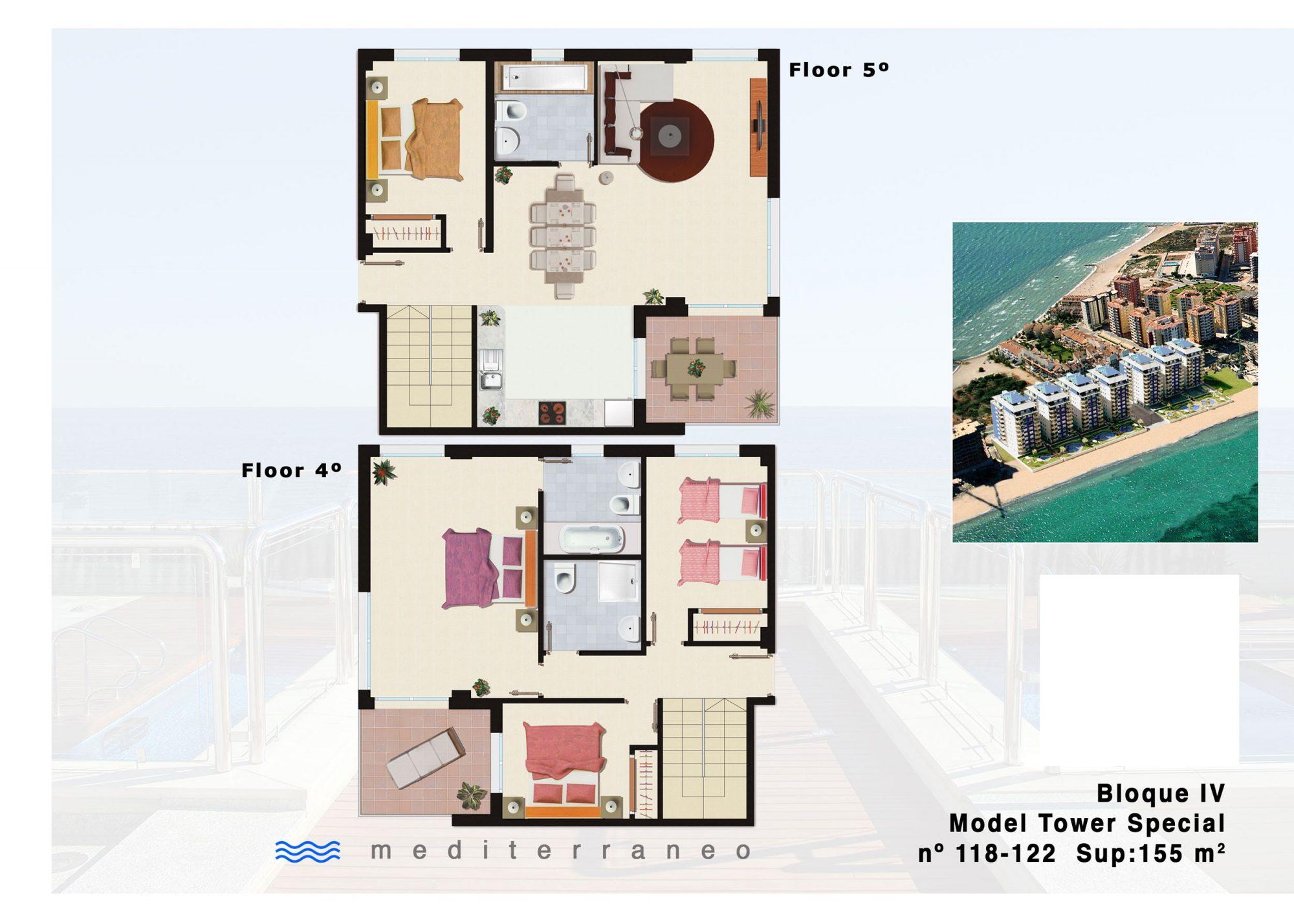5 pièces  Appartement  155 m²