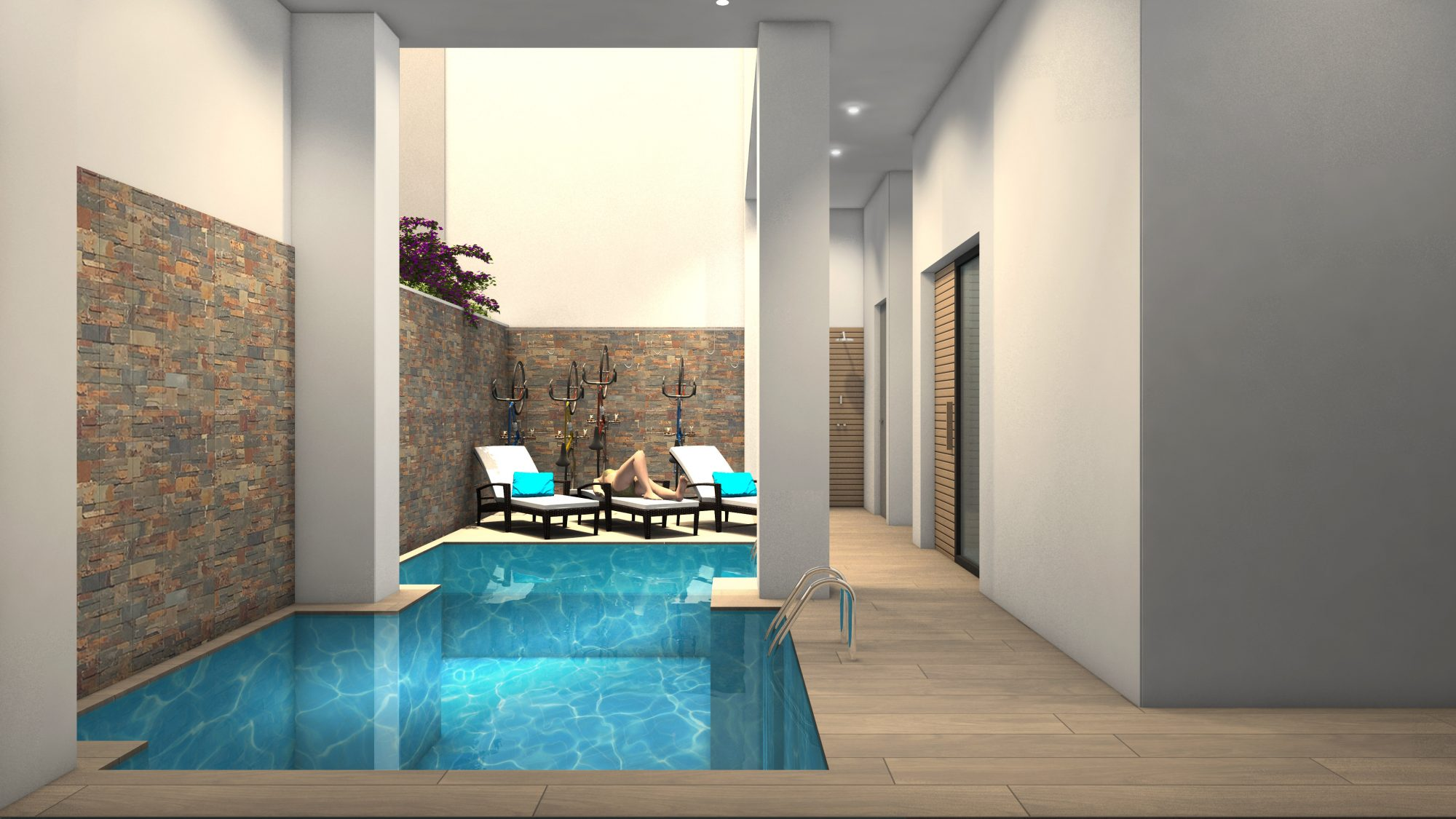 61 m² Appartement  2 pièces