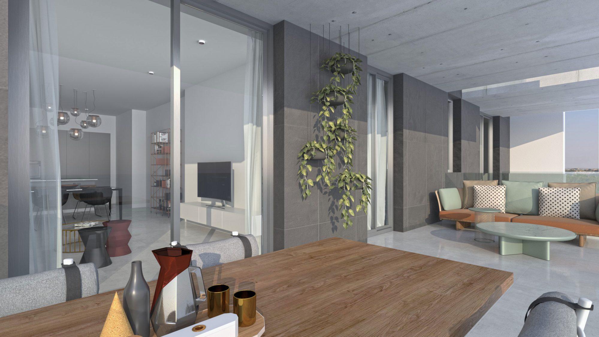 93 m² Appartement  3 pièces