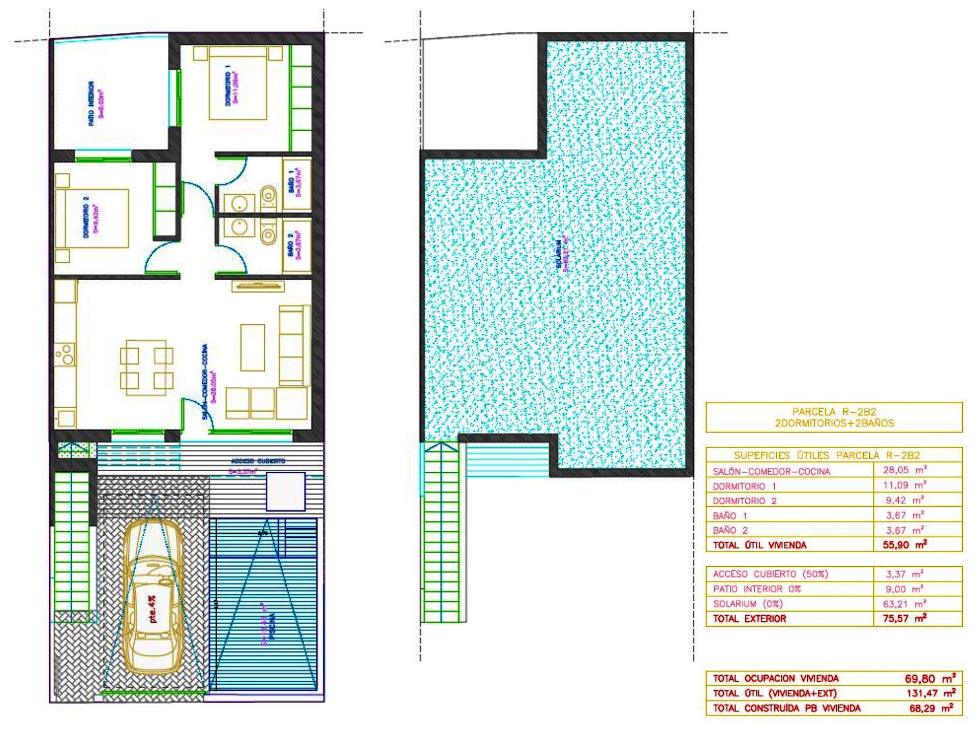 3 pièces Maison  65 m²