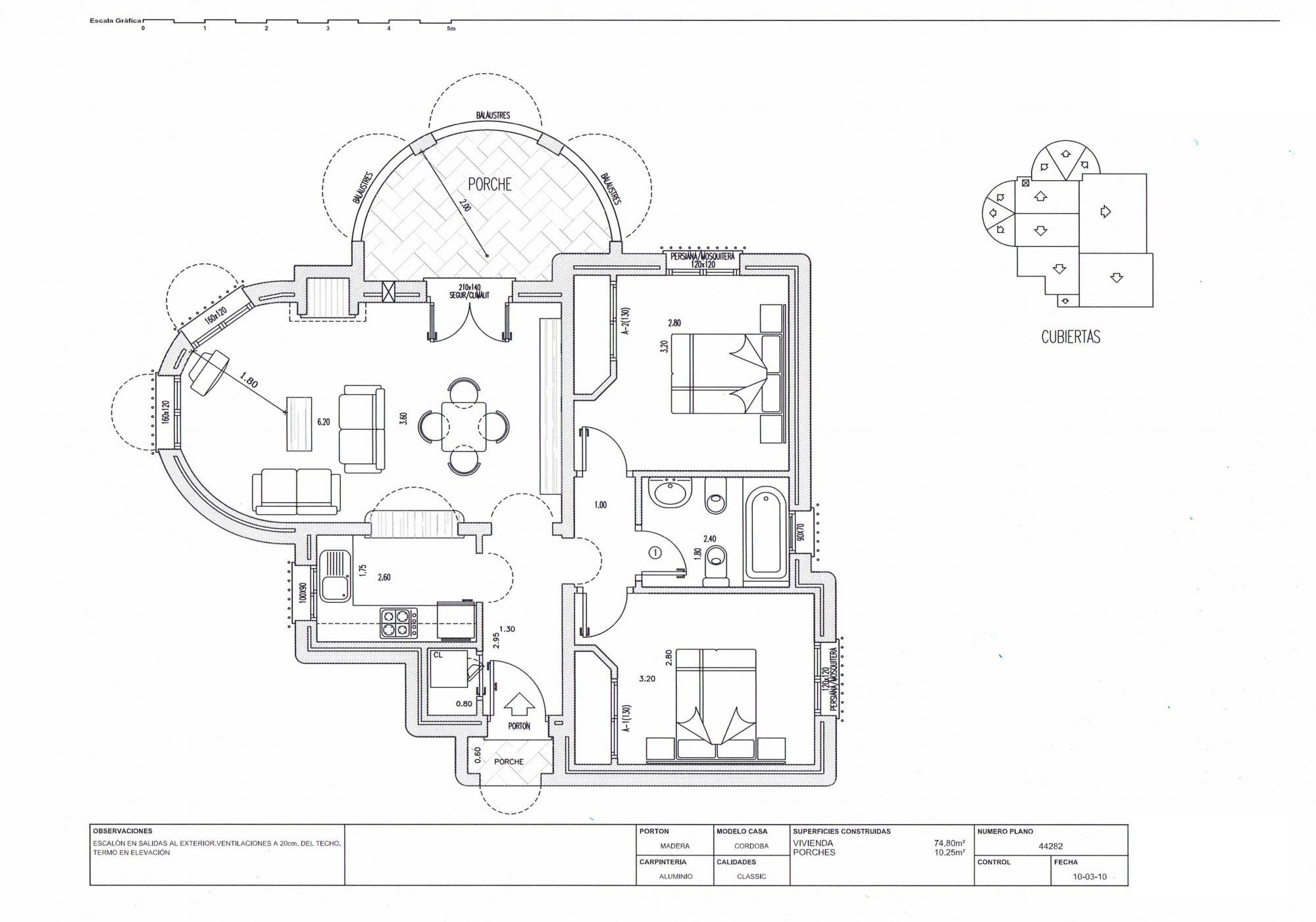 3 pièces 75 m²  Maison