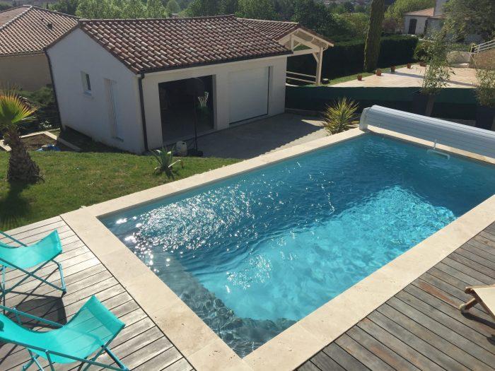 Vente contemporaine 5 pièces, piscine, secteur Agen Sud