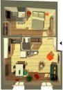 Appartement  Bordeaux Chartrons 46 m² 2 pièces