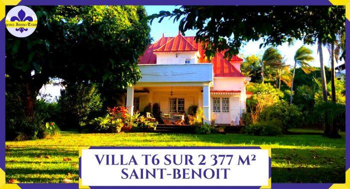 VenteMaison/VillaSAINT-BENOIT97470La RéunionFRANCE