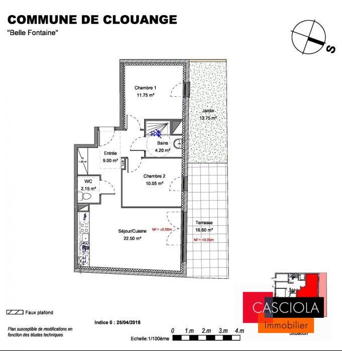 photo de CLOUANGE centre T3 neuf avec Balcon et Parking