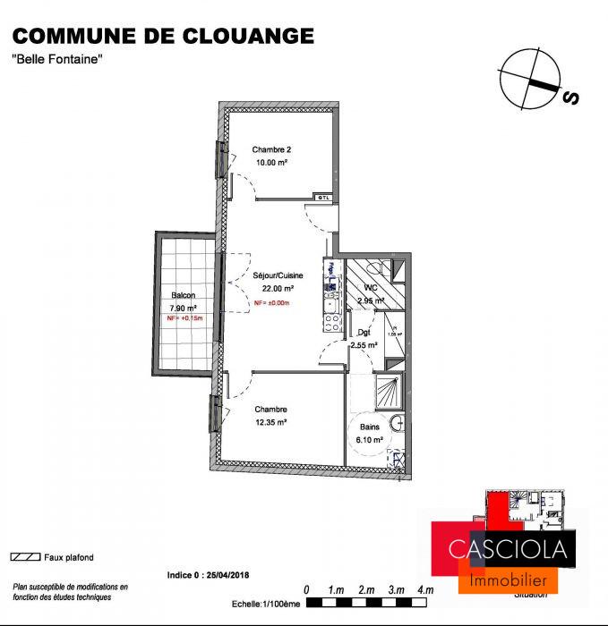 photo de T3 neuf Clouange centre avec Terrasse et parking