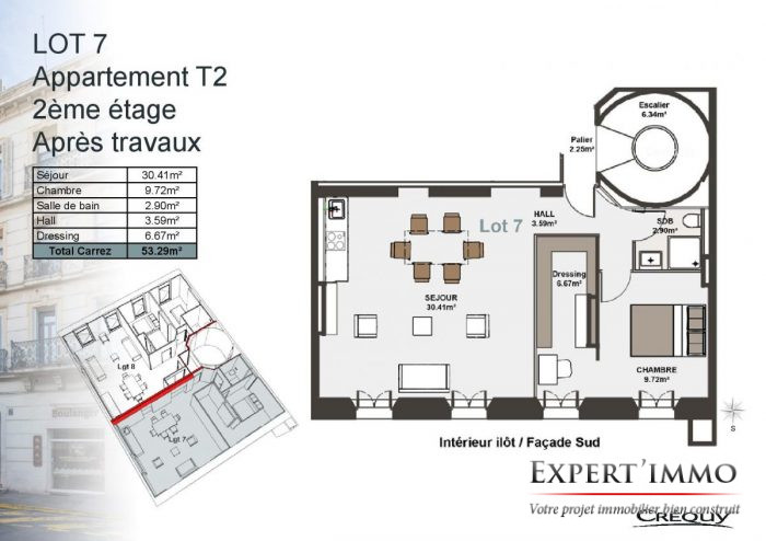 plan appartement ancien