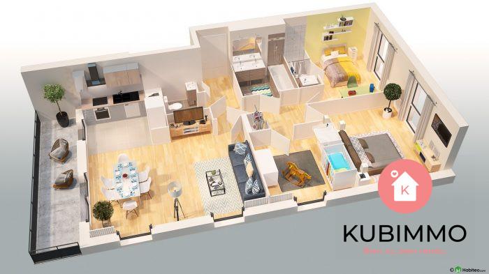 80 m²  Appartement 4 pièces Poissy Secteur 1