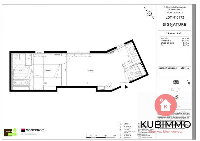 Poissy Secteur 1 46 m² Appartement 2 pièces