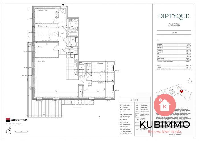 6 pièces  Le Vésinet  134 m² Appartement