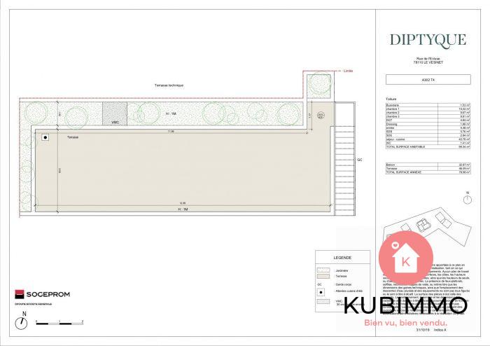 Le Vésinet  Appartement 99 m² 5 pièces