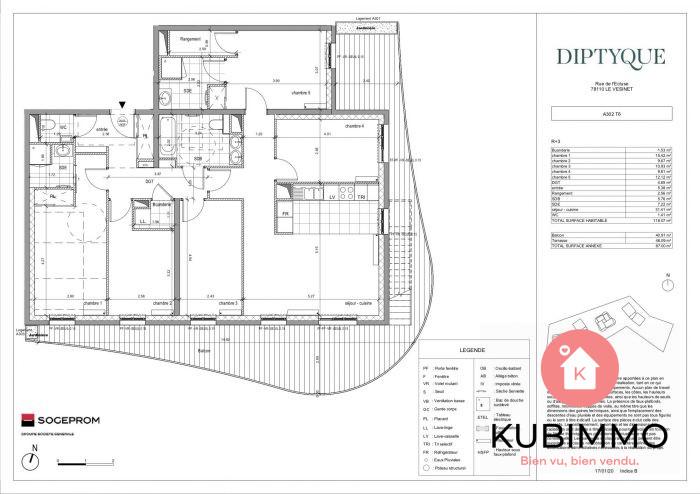 Le Vésinet  6 pièces 117 m² Appartement