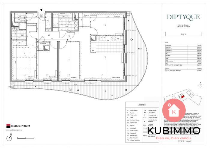 Le Vésinet  Appartement  5 pièces 98 m²