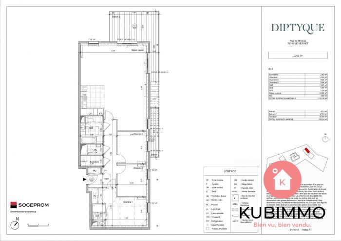 5 pièces Le Vésinet  105 m² Appartement