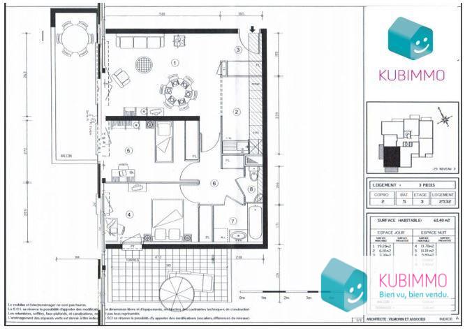 Appartement Élancourt  3 pièces 61 m²