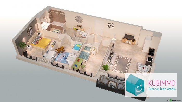 Appartement  Poissy  77 m² 4 pièces