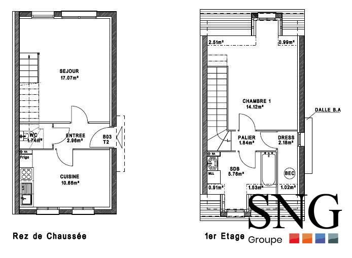 maison t2. Black Bedroom Furniture Sets. Home Design Ideas